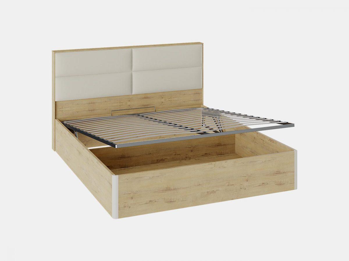 Кровать с подъемным механизмом, кровать бежевая
