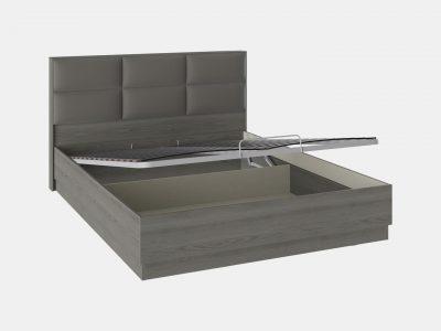 Кровать с мягким изголовьем и подъемным механизмом, кровать двуспальная, серая кровать