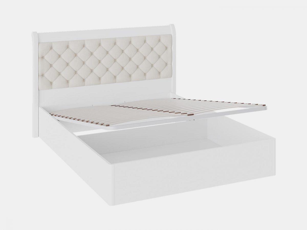 Кровать «Франческа»с мягким изголовьем и подъемным механизмом