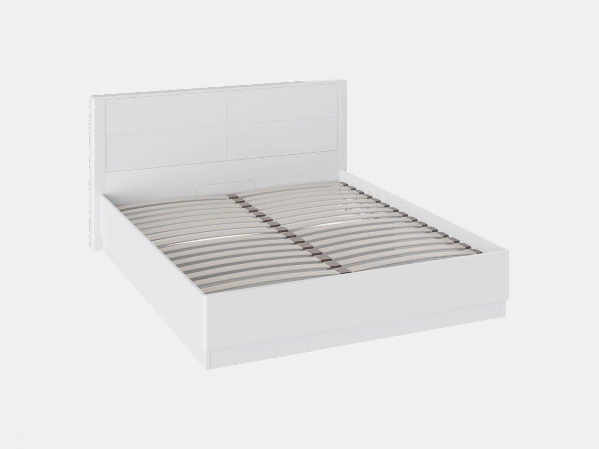 Кровать «Наоми» с подъемным механизмом (Белый глянец)