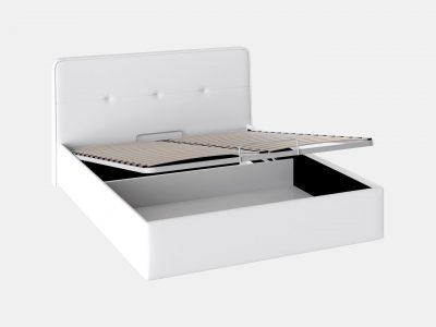 Кровать с мягкой обивкой и подъемным механизмом, двуспальный кровать