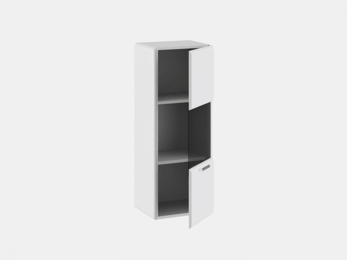навесной шкаф в гостиную белый