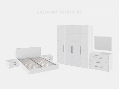Спальный гарнитур «Наоми» (Белый глянец)