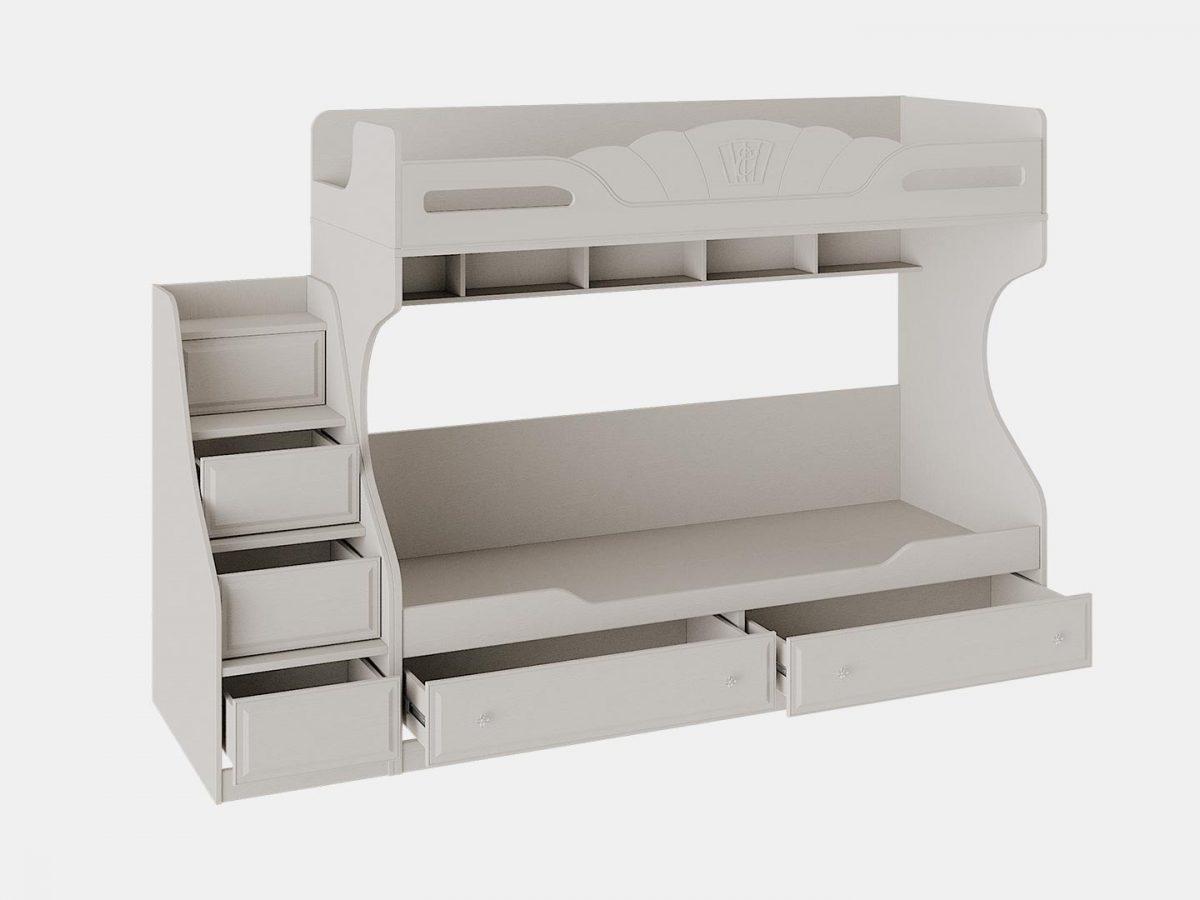 Кровать двухъярусная с приставной лестницей, кровать в детскую